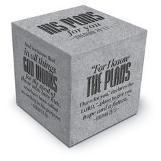 For I Know the Plans Scripture Block  -