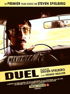 Universal TV ''Duel'' Dennis Weaver Director Steven Spielberg Teleplay Richard Matheson ABC MOWEnd Saturday Such a tense film. If you ever get a chance to see it, you will be transfixed. Abc Movies, Scary Movies, Great Movies, Horror Movies, Horror Art, Best Movie Posters, Cinema Posters, Movie Poster Art, Norman Rockwell