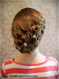 Girly Dos By Jenn: Formal Braided Updo with Pincurls
