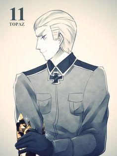 Ludwig and I share the same one! I Love Anime, Awesome Anime, Manga Anime, Anime Art, Hetalia Germany, Hetalia Fanart, Hetalia Axis Powers, Another Anime, You Draw