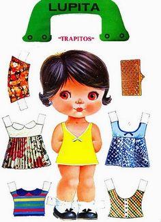 Bonecas de Papel: SURPRESA - Mais cabeçudas para nossa coleção
