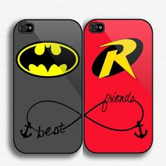 Batman Robin Best Friends IPhone 4/.. (42 AUD) ❤ liked on Polyvore featuring accessories, tech accessories, phone cases, phone, batman y electronics