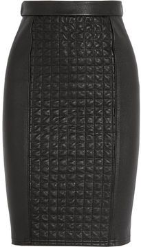 Roberto Cavalli Quilted stretch-leather skirt on shopstyle.com - this is NOT in my price range ($1900.00) but the look is defiently on my scope at a better price point.