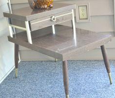 1950′s Vintage MOD End Table – Living Room or Bedroom #MOD #MODfurniture