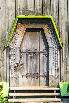 Door Of A Typical Ukrainian Antique Orthodox Church