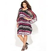 INC International Concepts Plus Size Dress, Batwing-Sleeve Printed Caftan. This dress is fierce and sexy!