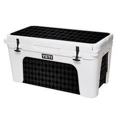 MightySkins Protective Vinyl Skin Decal for YETI Tundra 75 qt Cooler wrap cover sticker skins Black Argyle ** For more information, visit image link.(This is an Amazon affiliate link and I receive a commission for the sales)