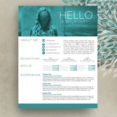 Creative Resume/CV Template + Cover Letter MS Word for Mac or PC • Modern…