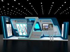 Novartis booth on Behance