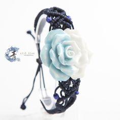 Exquisite jewelry, handmade   ... handmade jewelry of exquisite colorful ceramic flowers woven bracelet