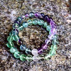 Mine nye #fluoritt #armbånd   #fluorite #diy #bracelet