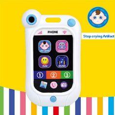 Berhenti menangis bayi mainan mesin bayi ponsel bayi mainan pendidikan simulasi artefak smartphone bayi tidur bel