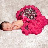 Raspberry Leopard Newborn/Infant Pettiskirt - Final Sale ODB50
