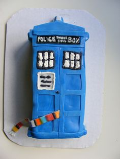 TARDIS cake.  Because Tom Baker was the best Dr.