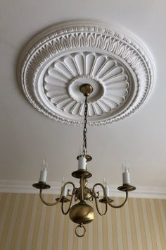 Reproduction Plaster Company — - The Thomson Insert - Ceiling Rose Ceiling Rose, Ceiling Lights, Dream Home Design, House Design, House Extension Plans, Living Room Decor, Living Spaces, House Extensions, Drawing Room