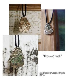 bronzovy mach My Arts, Bronze, Pendant Necklace, Shop, Handmade, Jewelry, Fashion, Moda, Hand Made