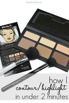 I picked up the Kat Von D Shade Light Contour Palette and have nailed down an under-two-minute routine that looks flawless and lasts all day.