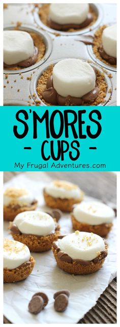 Ooey gooey chocolately S'Mores Cups! These are so delicious and just take minutes to make.  A guaranteed hit at your next party.