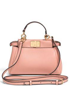 Fendi 'Micro Peekaboo' Nappa Leather Bag (Extra Small) | Nordstrom