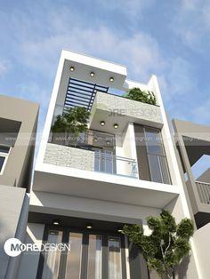 Công trình:Thiết kế kiến trúc nhà phố hiện đại 5x17m Địa điểm: TP. Biên Hòa, Đồng Nai. Tinh thần Kiến trúc hiện đại được thể hiện rõ nét trong công trình thiết kế nhà phố này, những diện, khối, tuyến, điểm được tinh giản một cách tối đa. Giải pháp vách kính và lam sắt …