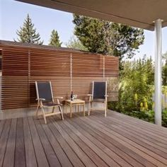 You can put up a wooden wall to protect your patio from unwanted eyes