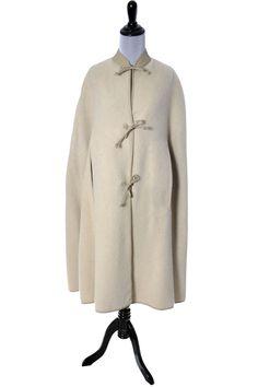 Designer Bonnie Cashin mohair leather vintage cape Sills