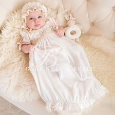 Newborn Girl Newborn Gown - Jessica Christening/Baptism Collection - Designer Gowns & Dresses