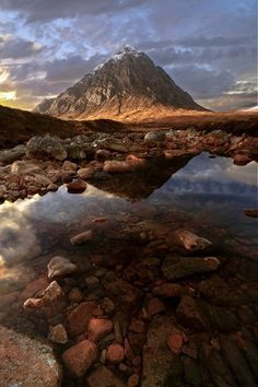 Sunrise at Glen Etive. Scotland.