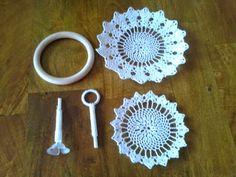 Crochet Car, Crochet Bowl, Diy Crafts Crochet, Diy Crafts How To Make, Crochet Basket Pattern, Crochet Patterns, Doilies Crafts, Crochet Doilies, Accessoires Barbie