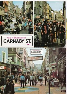London Carnaby Street 1970's 2ppc 2309 lon038 by postcardcity, via Flickr Sixties Fashion, Mod Fashion, England Uk, London England, Mod Girl, Swinging London, Carnaby Street, Those Were The Days, Op Art