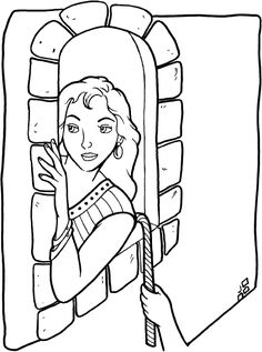 Coloring Rahab Hiding The Spies