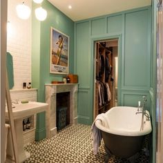 A Beautiful Bathroom by #MartinsCamisuliArchitects Today on http://ift.tt/1hF2ekj #Architecture #bathroomdesign #beautifulbathroom #InteriorDesign #InteriorDecorating #uniquetiles #UniqueHome #bathroomfireplace #clawfootbathtub by michelleshantz Bathroom remodeling ideas.
