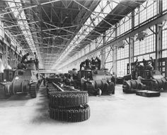 [Photo] Men working on tanks at the Detroit Arsenal Tank Plant, Warren, Michigan, United States, circa Warren Michigan, Detroit Michigan, Detroit Usa, Detroit Vs Everybody, Detroit Rock City, Detroit History, History Online, Local History, Beach Town