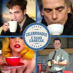 CELEBRIDADES E SUAS CANECAS Não apenas gostamos de canecas? As celebridades também curtem. Nos artistas, as canecas ganham um toque de charme a mais. Visite o nosso site: ow.ly/Bzd9f