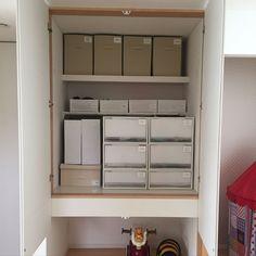 吊り押入れ/北欧ナチュラル/プラダン/収納/IKEA/無印良品…などのインテリア実例 - 2016-06-08 11:51:50 | RoomClip(ルームクリップ)