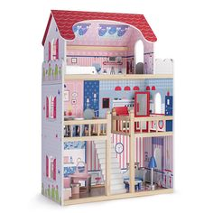 Casa De Muñecas En Miniatura Marrón Diseño Clásico de fondo de pantalla