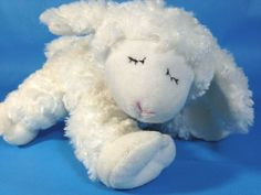 NEW baby Gund Winky Winks Sleeping White Lamb Stuffed Sheep Toy Plush Rattle Ewe Sheep, Animals Kissing, Baby Lamb, Pet Toys, New Baby Products, Plush, Awesome Stuff, Baby Sheep