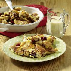 Kaiserschmarrn mit Cranberries und weißer Schokoladensoße Rezept