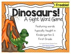 Sight Word Games For Kindergarten Teaching Fun 39 Ideas For 2019 Word Games For Kids, Sight Word Games, Sight Word Activities, Sight Words, Dinosaur Games, Dinosaur Activities, Dinosaur Crafts, Dinosaur Classroom, Kindergarten Games
