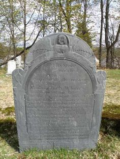 old slate gravestone  Washington Cemetery  Keene, New Hampshire