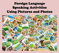 A quick and easy way to get students speaking is to have them describe a picture or photo, but this can a get a little old after a few times. There are many paired and group activities that studen. Spanish Activities, Language Activities, Group Activities, Classroom Activities, French Classroom, Spanish Classroom, Teaching French, Teaching Spanish, Spanish Teacher