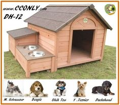Dog House Outdoor / Indoor Wooden Dog House * Details can be found : Crates, Houses and Pens for dogs Large Dog House, Wooden Dog House, House Dog, Wooden Cat, Online Pet Supplies, Dog Supplies, Outdoor Doors, Indoor Outdoor, Outdoor Ideas