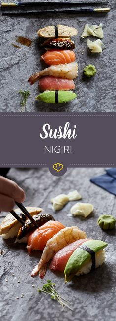 Shrimp Recipes Of course, if you do sushi at home, Nigiri should not be missed. Here you will find … Nigiri Sushi, Sashimi, Sushi Recipes, Shrimp Recipes, Asian Recipes, Sushi Taco, Sushi At Home, Sushi Love, Japanese Recipes