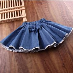2017 Spring Autumn Summer Girl Skirt Girls Skirts Bow Lace Denim Children For Girls Fantasia Tutus Baby Saia Cake Tutu Baby Skirt, Baby Dress, Baby Outfits, Kids Outfits, Preppy Outfits, Little Girl Dresses, Girls Dresses, Girl Skirts, Pinafore Dress Pattern