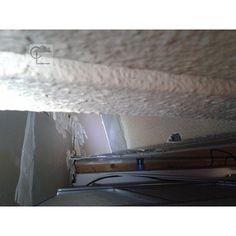 Lille. Dans un plénum, un flocage et crépi amianté contre l'incendie. #diagnosticsimmobiliers #amiante #asbestos #nord #lille