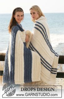 """DROPS Extra 0-615 - Knitted DROPS blankets in """"Polaris"""".  - Free pattern by DROPS Design"""