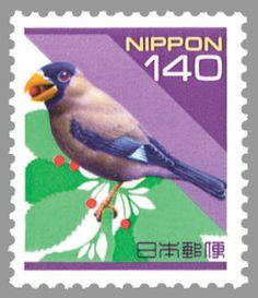 Japanese Grosbeak(Eophona personata)イカル