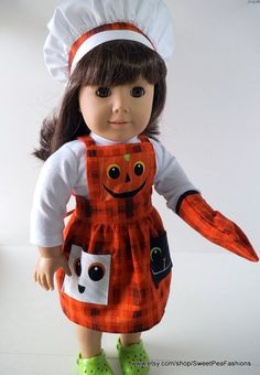 American Girl Halloween Apron Set by SweetPeaFashions on Etsy, $12.00