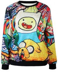 "be-a-serial-killer: "" Don't we all love Adventure Time? Today, i present you this awesome Adventure Time Sweatshirt with Jake the Dog and Finn the Human! Choies is selling it for the special price of. Hoodie Sweatshirts, Sweatshirts Online, Printed Sweatshirts, Printed Shirts, Fashion Sweatshirts, Hogwarts Sweatshirt, Galaxy Sweatshirt, Adventure Time, Sweat Shirt"