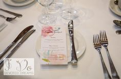 Pretty Floral Menu cards by I Do Devoted Dreams.